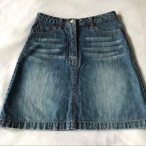 H&M L.O.G.G. 5-pocket Medium Wash Jean Skirt